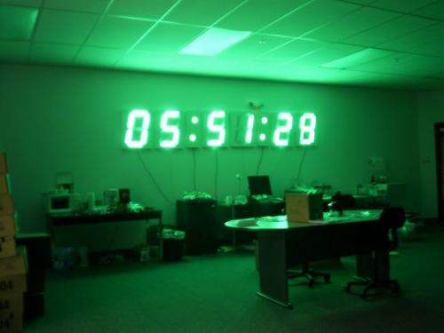 12ft gps wall clock sparkfun electronics yes the 12 wall clock really does make the room glow green aloadofball Images