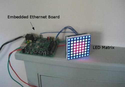 Ethernet to Color LED Matrix - SparkFun Electronics