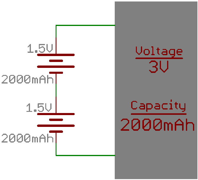 Batteries in parallel/series