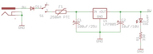 Resettable Fuse included before voltage regulator