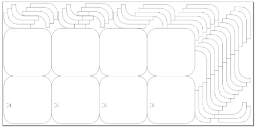 Four Pad Layout