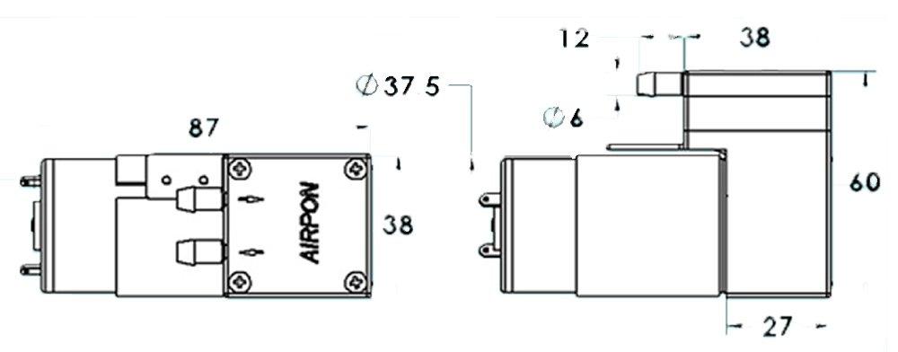 vacuum pump 12v rob 10398 sparkfun electronics vacuum pump 12v