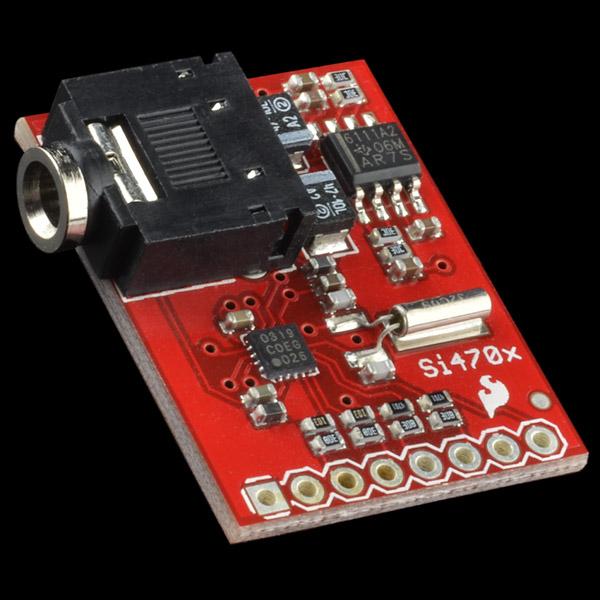 Si fm radio receiver quickstart guide sparkfun