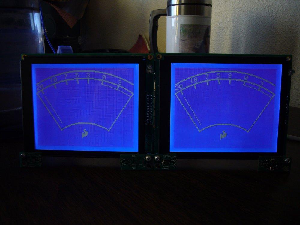 Graphic LCD VU Meters - SparkFun Electronics